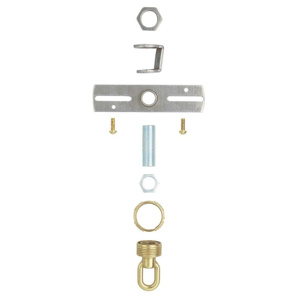 Antique Brass Screw Collar Loop Kit