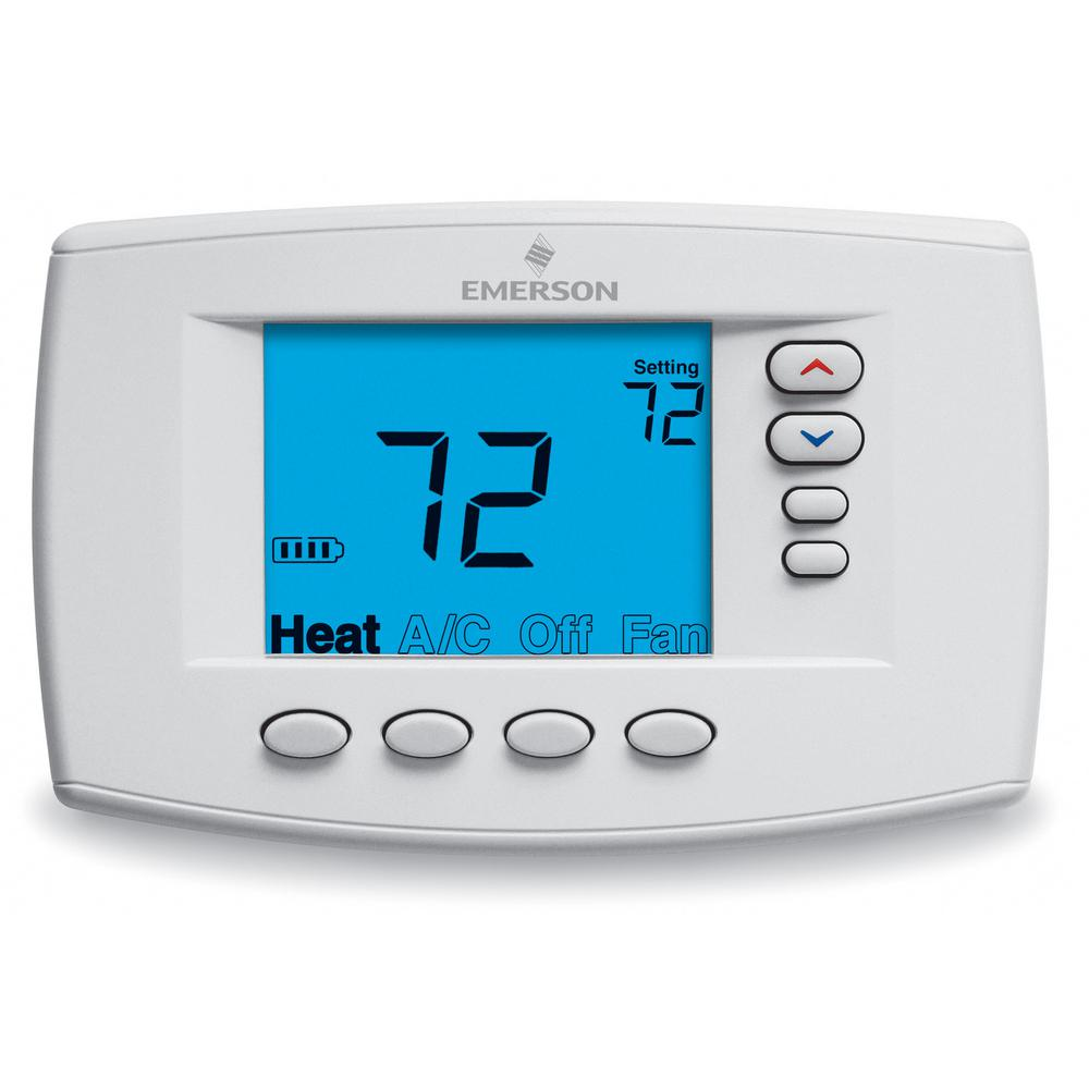Emerson Easy Reader 7-Day Programmable Digital Thermostat ...