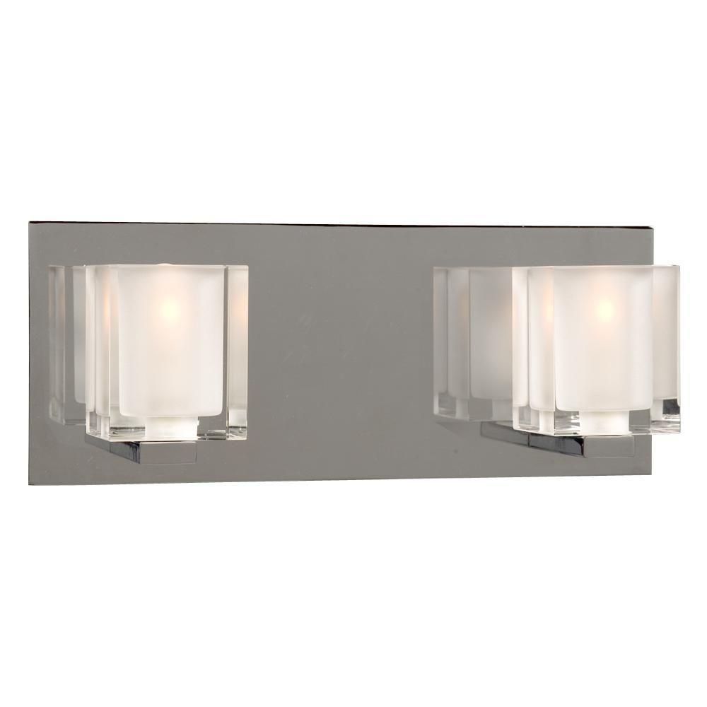 Negron 2-Light Chrome Halogen Bath Vanity Light