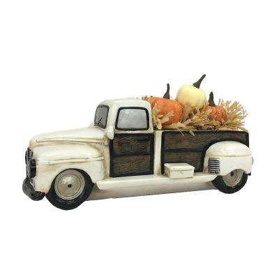 12.5 in. Pumpkin Truck