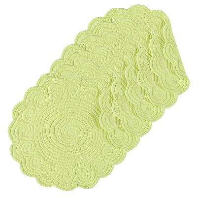 Lime Green Round Placemat (Set of 6)