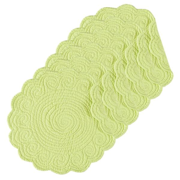 C&F HOME Lime Green Round Placemat (Set of 6)