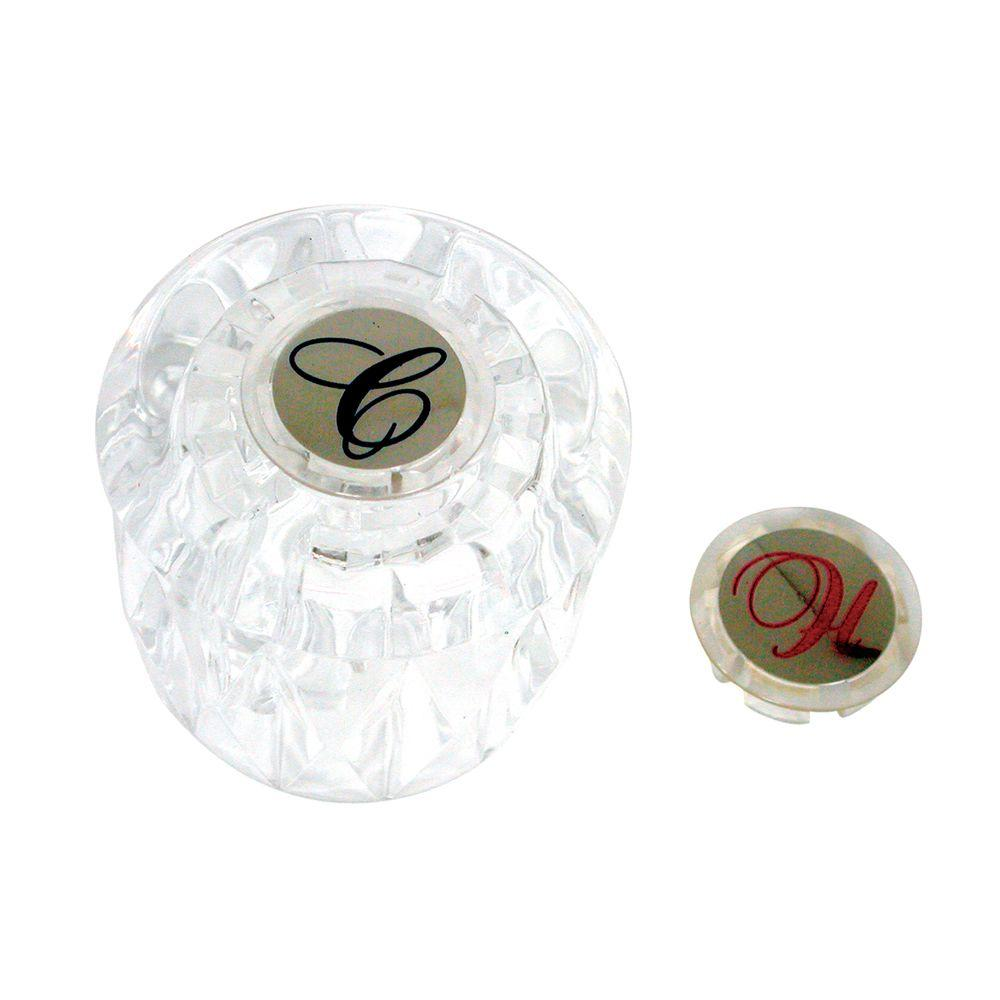 DANCO Handle for Valley in Clear Acrylic with Hot/Cold Button-46489 ...