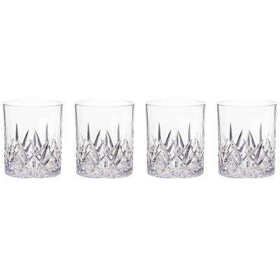 Aurora Crystal 14 oz. DOF Tumbler in Clear (Set of 4)