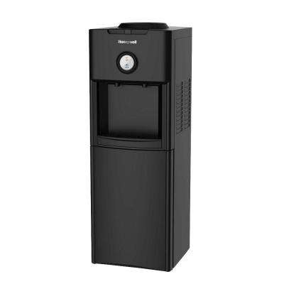 Freestanding Top-Loading Hot/Cold Water Dispenser with with Chemical Free Antibacterial Disc in Black