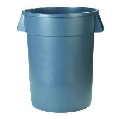 Bronco 10 Gal. Gray Round Trash Can (6-Pack)