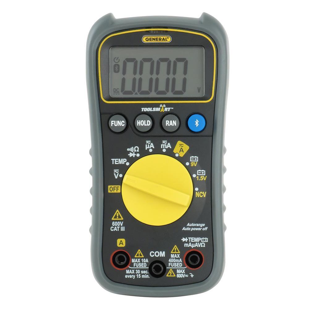 General Tools ToolSmart Bluetooth Connected Digital Multimeter