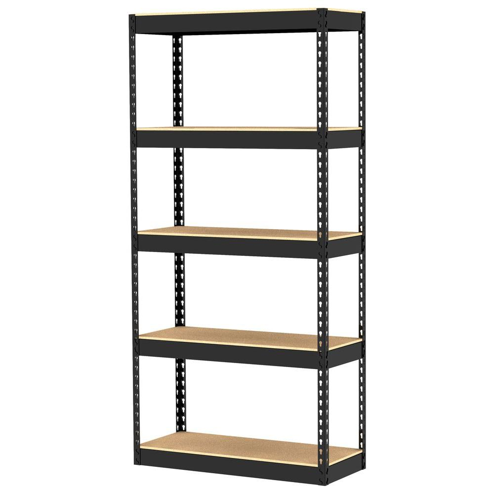 Gorilla Rack 5-Shelf 30 in. x 12 in. x 60 in. Freestanding Storage Unit-DISCONTINUED