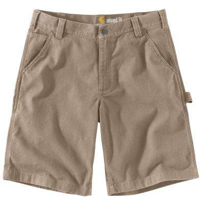 Men's 36 Tan Cotton/Spandex Rugged Flex Rigby Work Short