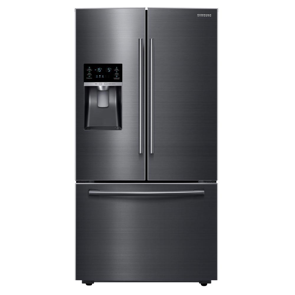 28.07 cu. ft. French Door Refrigerator in Black Stainless Steel