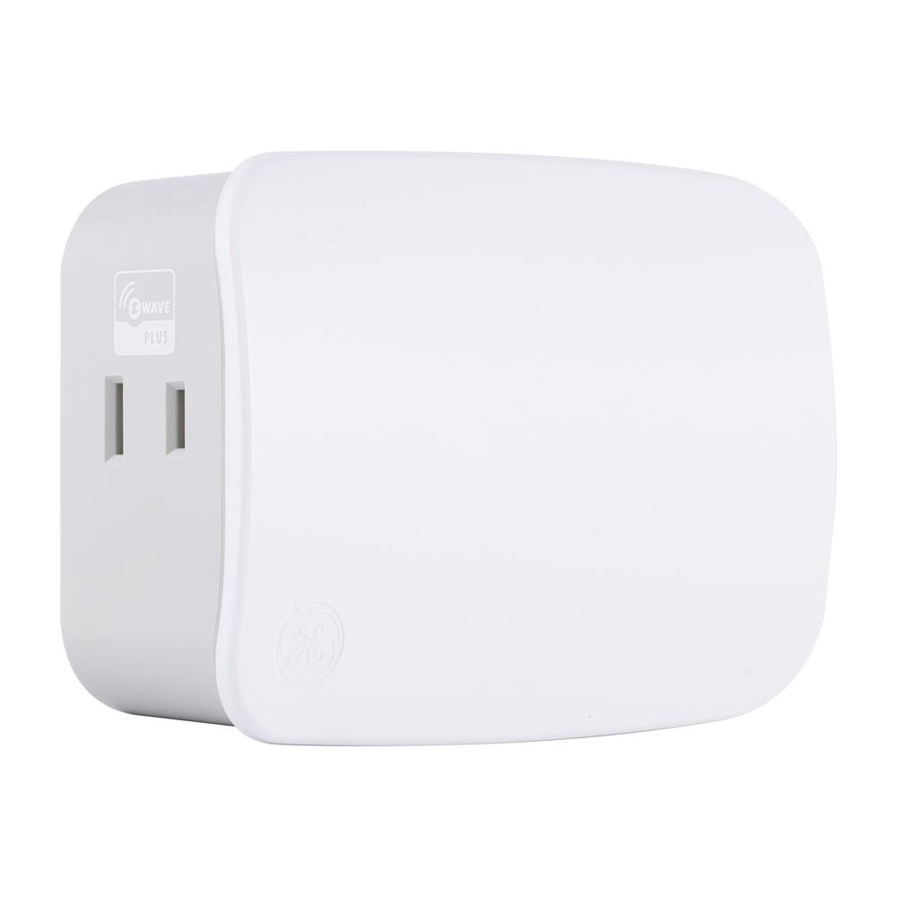 GE Z-Wave Plus Plug-In Smart Dimmer Dual Controlled Outlets-14280 ...