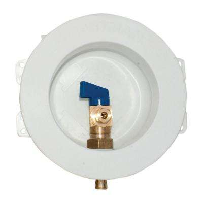 1/2 in. PEX Round Mini Ice Maker Outlet Box