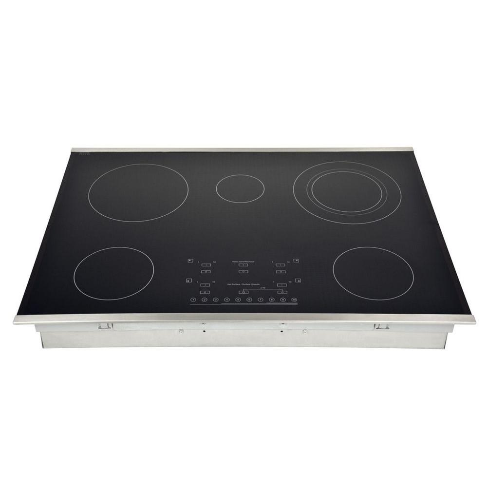 Wonderful Smooth Top Electric Cooktop In Stainless Steel With 5 Elements Including  Flex Power Element HEC3001ST   The Home Depot