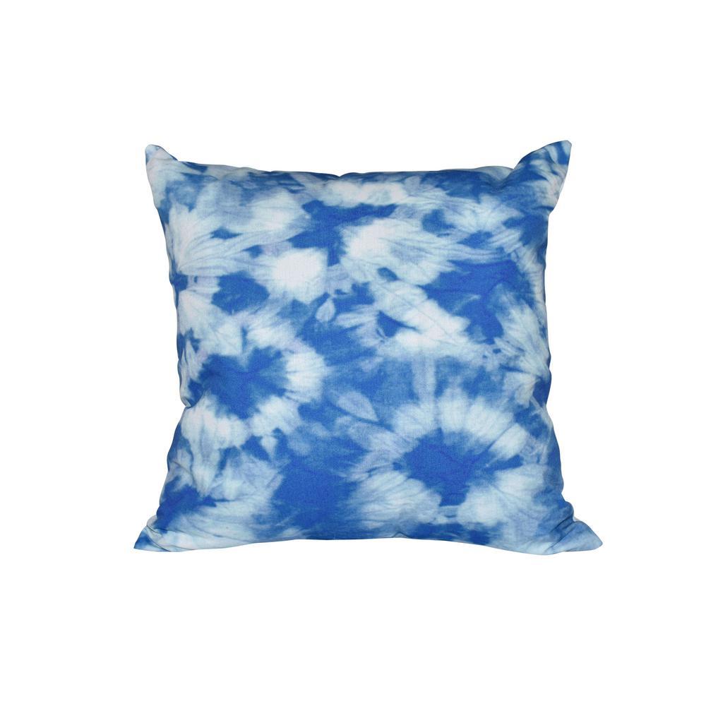 16 in. x 16 in. Blue Chillax Geometric Print Pillow