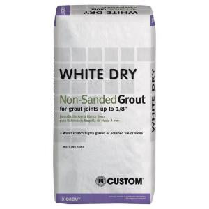Custom Building Products White Dry 25 lb. Non-Sanded Grout by Custom Building Products