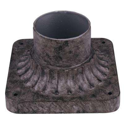 Hammered Silver Cast Aluminum Pier Base