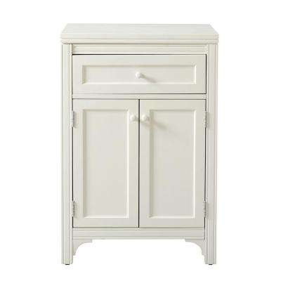 Two-Door 36 in. H x 24 in. W in Picket Fence Laundry Storage Cabinet