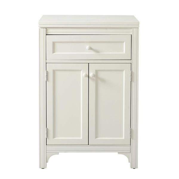 Martha Living Picket Fence White Laundry Storage Cabinet With Two Doors 36 In