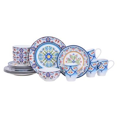 Tunisia 16-Piece Porcelain Dinnerware Set