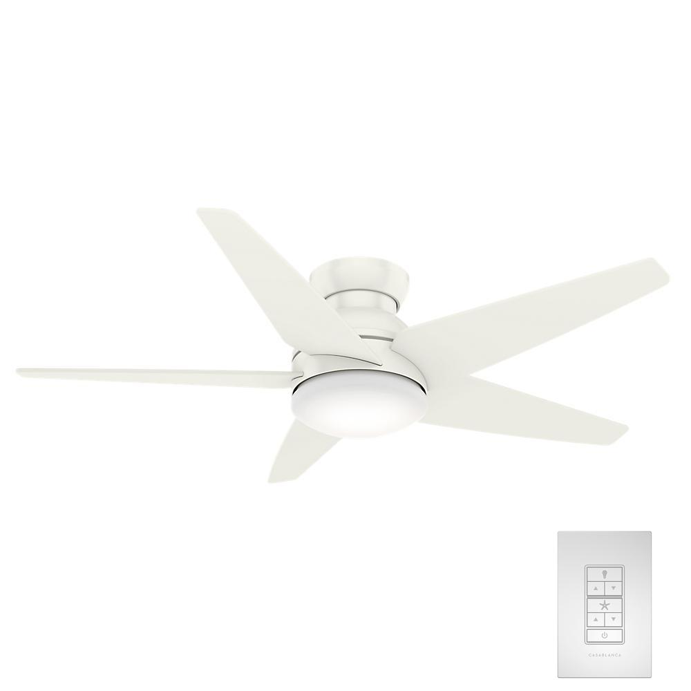 Casablanca Isotope 52 in. LED Indoor Fresh White Ceiling Fan