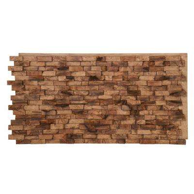 Teak Faux Wood Panel 1-1/4 in. x 48 in. x 24 in. Spiced Teak Polyurethane Interlocking Panel