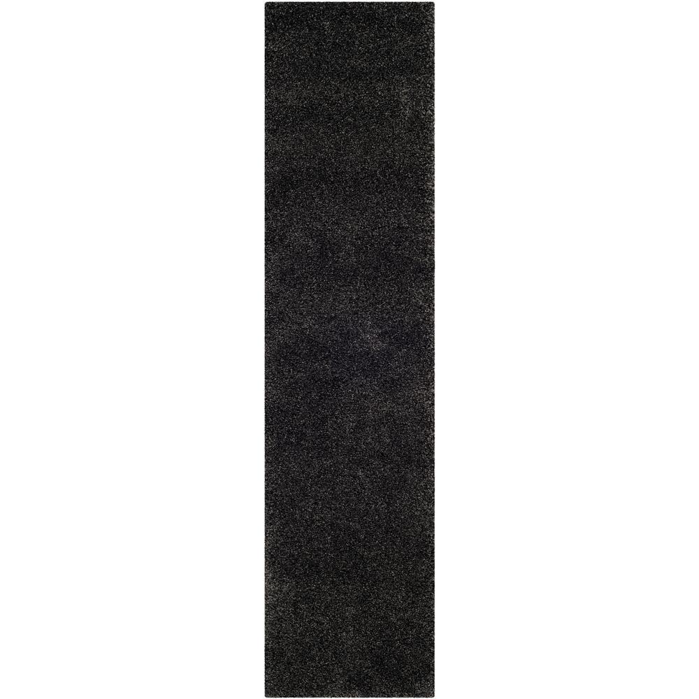 Milan Shag Dark Gray 2 ft. x 8 ft. Runner Rug