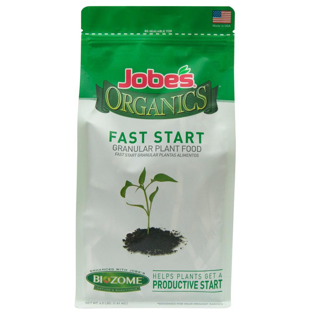 4 lb. Organic Fast Start Plant Food Fertilizer with Biozome, OMRI Listed