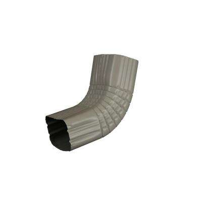 2 in. x 3 in. Pearl Gray Aluminum Downspout A Elbow