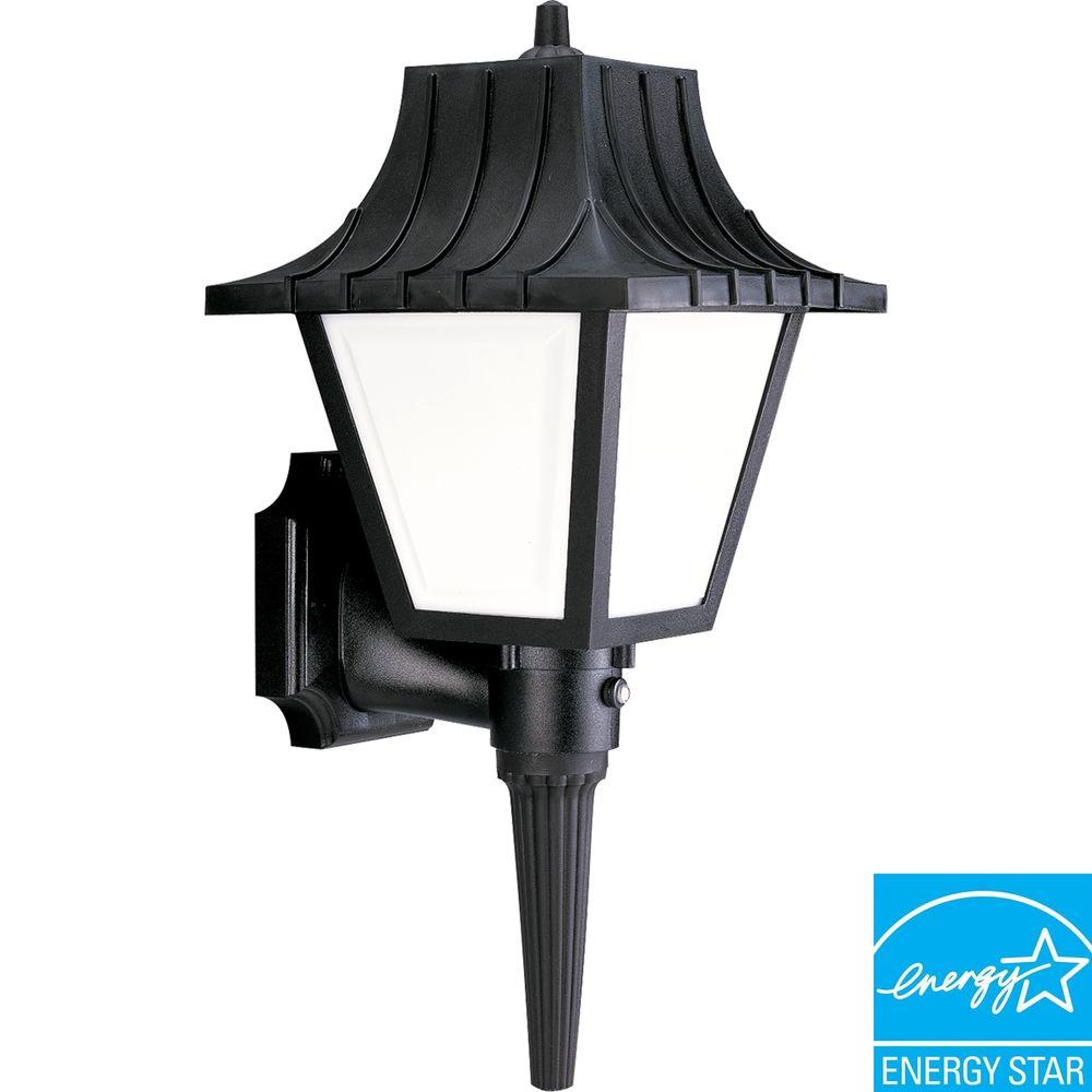 Progress Lighting Mansard Collection Textured Black 1-light Wall Lantern-DISCONTINUED