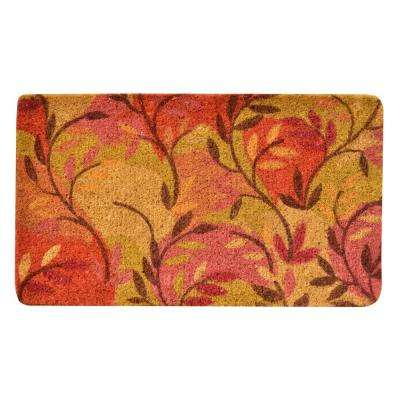 Outdoor Multi Leaf 1 ft. 6 in. x 2 ft. 6 in. Coir Door Mat