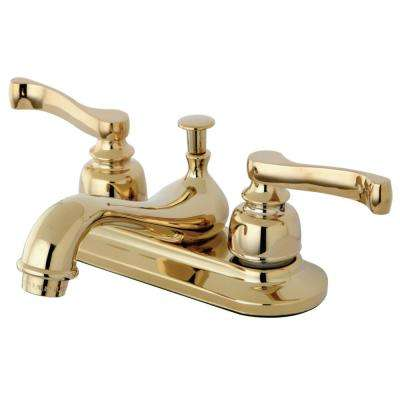 Royale 4 in. Centerset 2-Handle Bathroom Faucet in Polished Brass