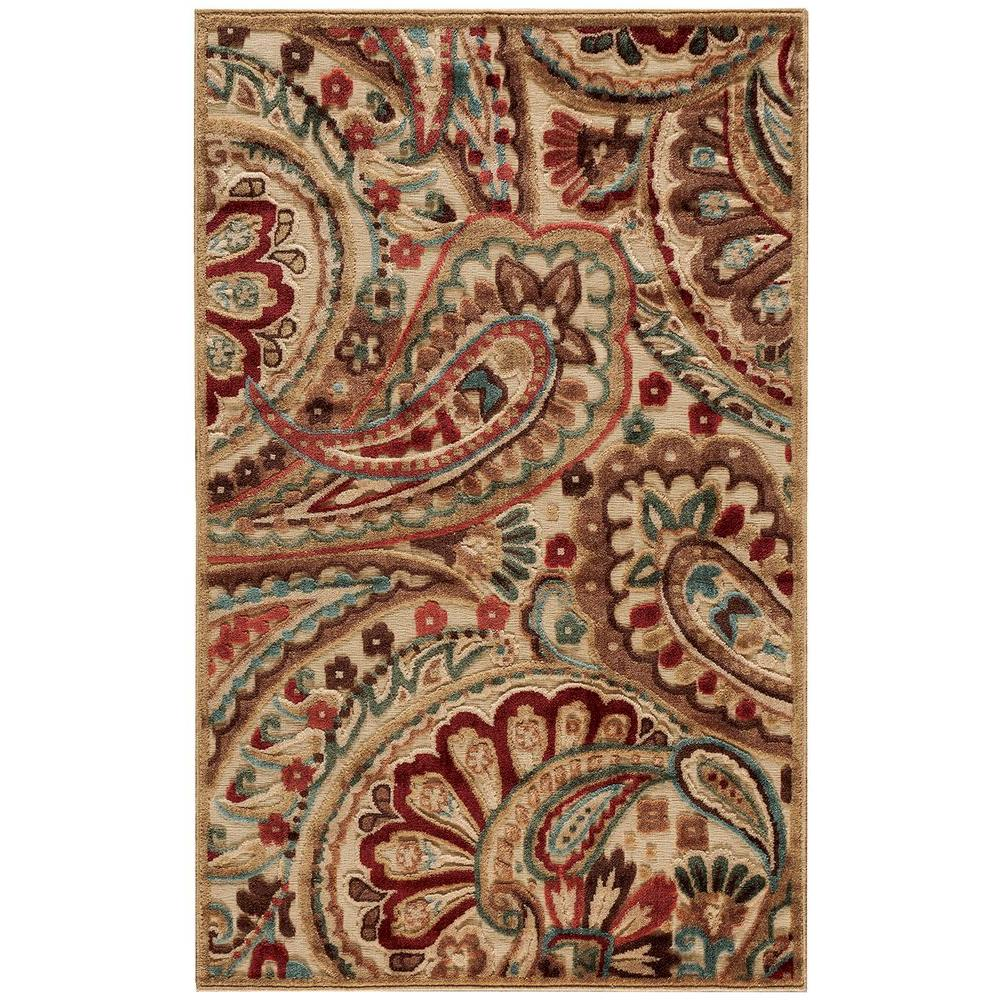 Nourison Graphic Illusions Light Multicolor 3 ft. 6 in. x 5 ft. 6 in. Area Rug