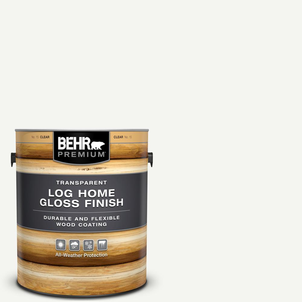 BEHR Premium 1 gal  Clear Gloss Finish Log Home