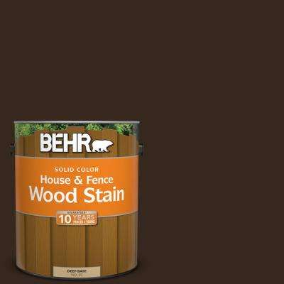1 gal. #SC-105 Padre Brown Solid Color House and Fence Exterior Wood Stain
