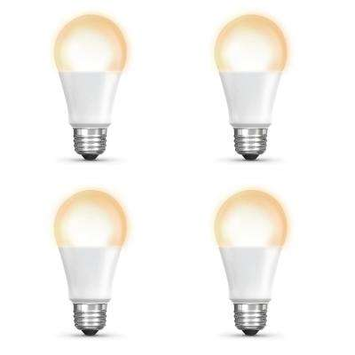 60-Watt Equivalent Soft White (2700K) A19 Dimmable Apple HomeKit LED Smart Light Bulb (4-Pack)