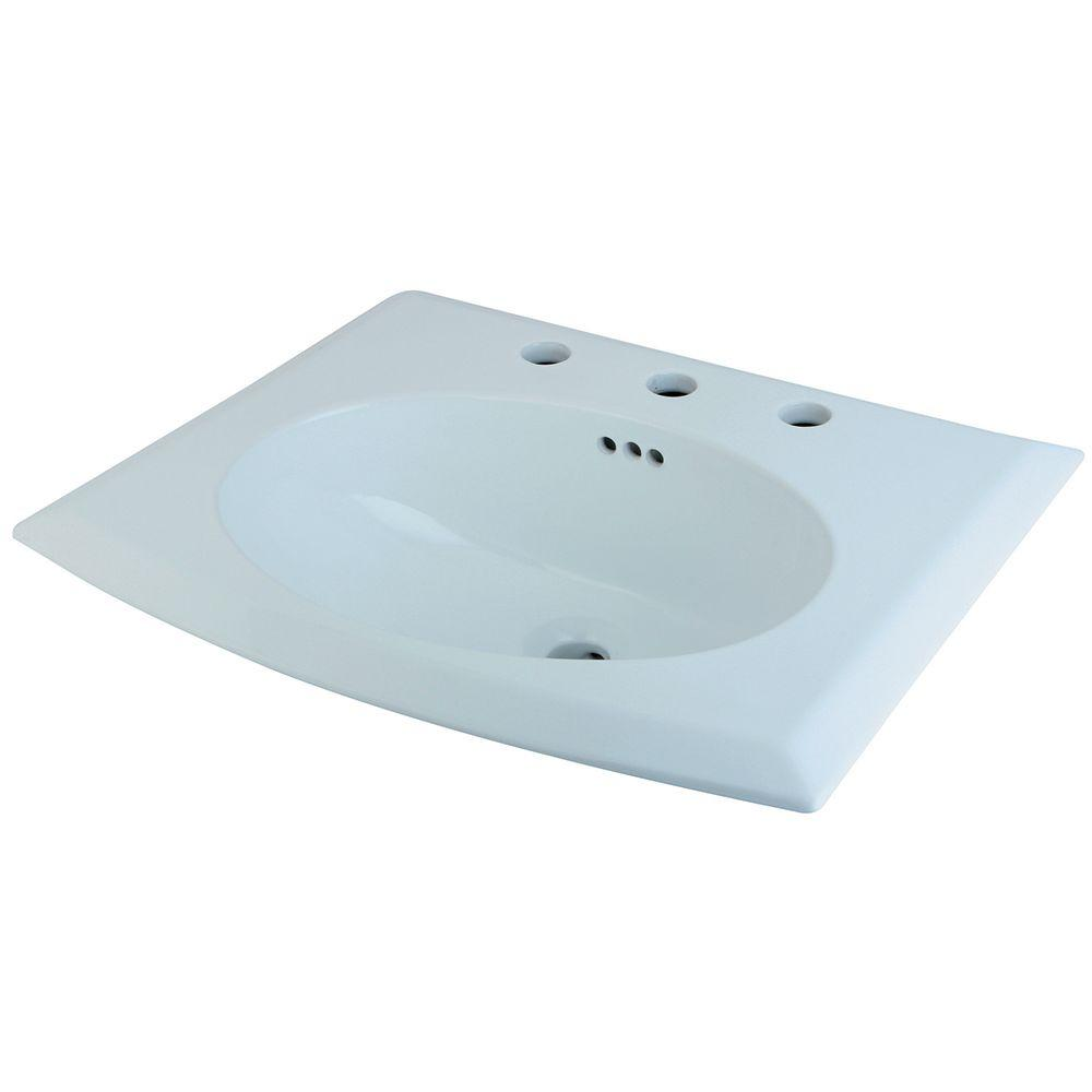 home depot drop in bathroom sinks kingston brass drop in bathroom sink in white 25311