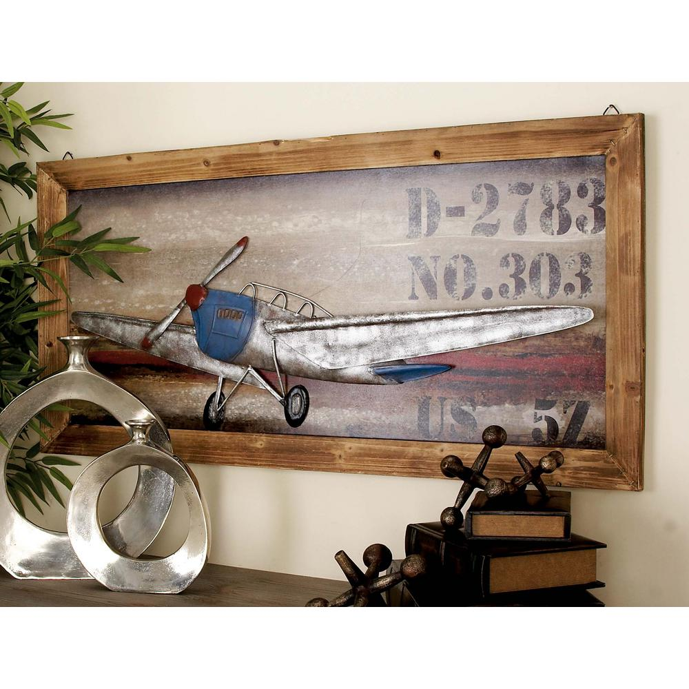 24 in x 47 in vintage military plane canvas wall art by vintage military plane canvas wall art amipublicfo Choice Image