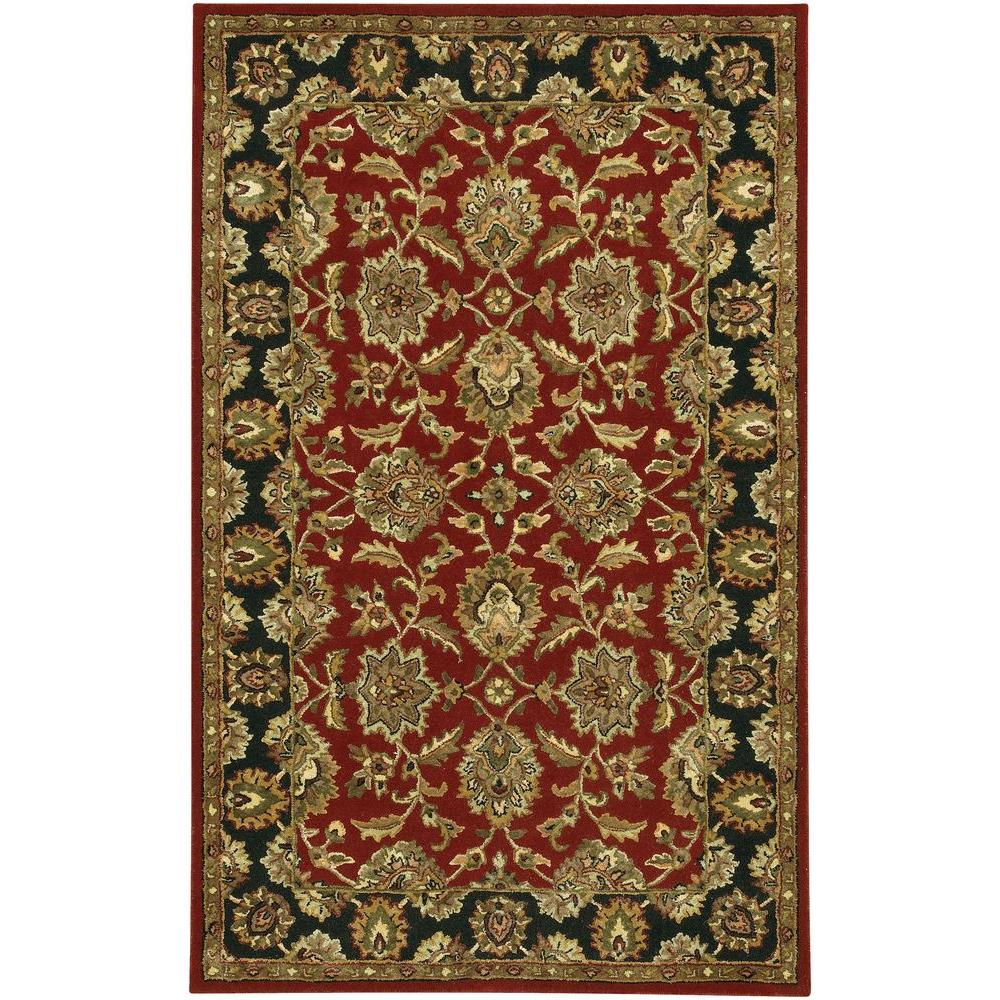 Chandra Bliss Red/Black/Brown/Gold/Green 7 ft. 9 in. x 10 ft. 6 in. Indoor Area Rug