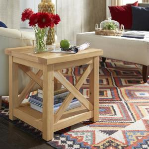 Homestyles Country Lodge Pine End Table 5524 20 The Home Depot