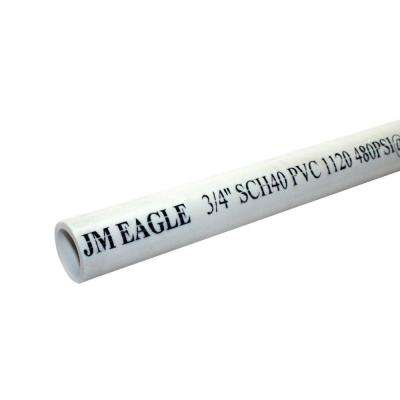 3/4 in. x 10 ft. 480-PSI Schedule 40 PVC Plain End Pipe