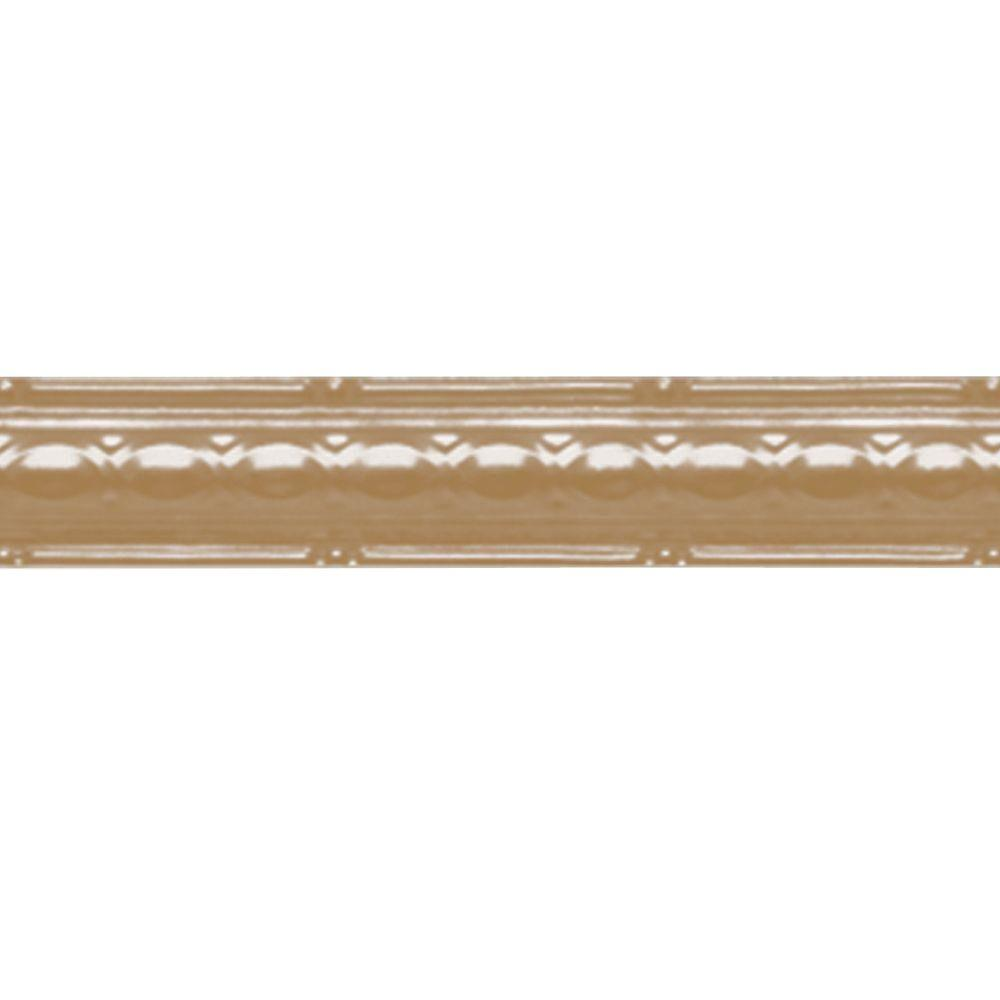 2-1/2 in. x 4 ft. Satin Brass Nail-up/Direct Application Tin Ceiling