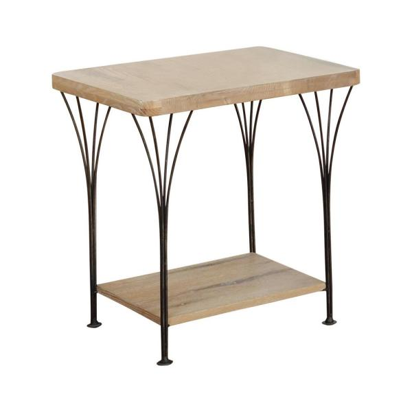Alaterre Furniture Thetford 21 in. W Weathered Natural Wood and Metal
