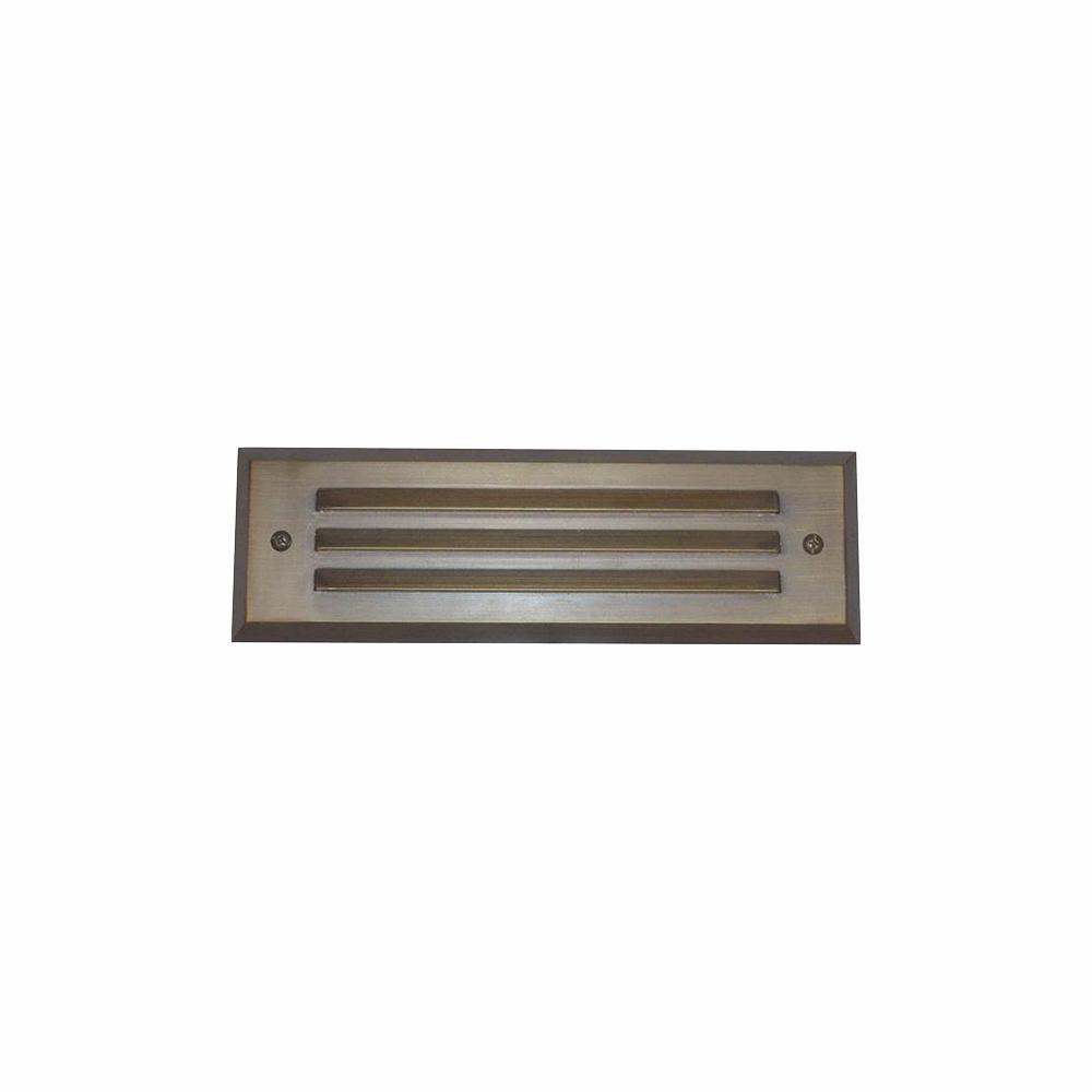 Home Decorators Collection 4-Watt Brass Outdoor Integrated LED 2700K White Warm Landscape Deck Light