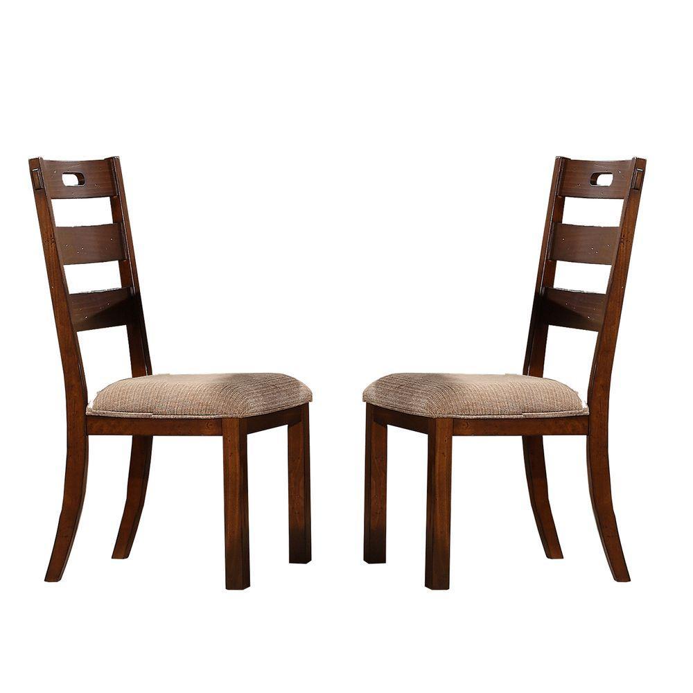 Wood frame dining side chair vintage furniture kitchen seat living room set of 2