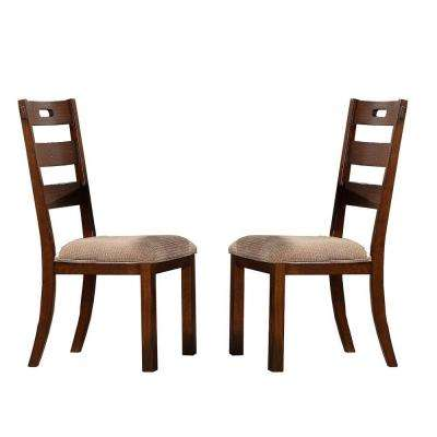 Brown Wood Side Chair Dining Chairs Kitchen Dining Room