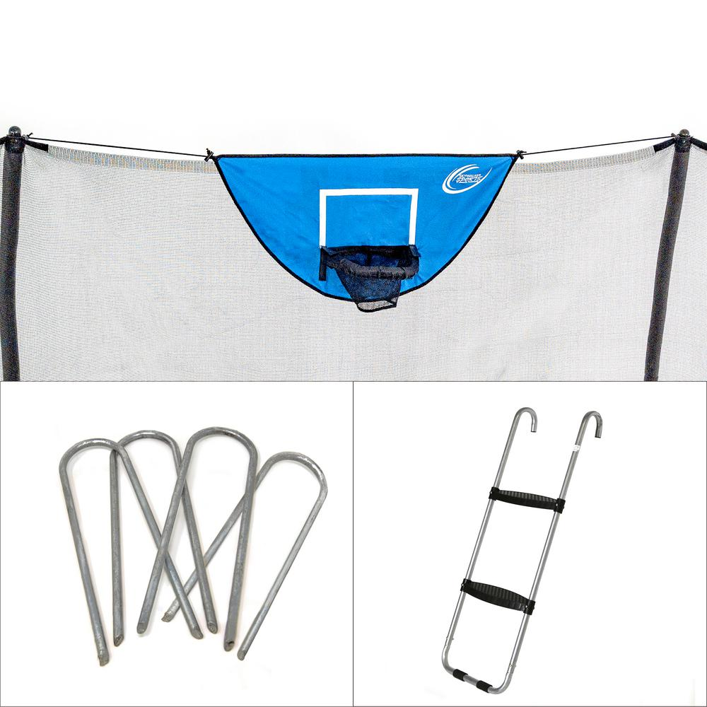 Accessory Kit with Basketball Game, Windstakes and Wide Step Ladder