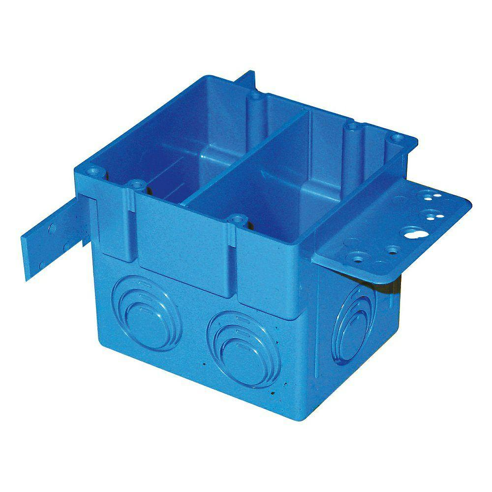 2-Gang 38 cu. in. Square ENT Electrical Box (Case of 5)