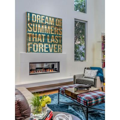 "24 in. H x 24 in. W ""I Dream of Summers"" by Marmont Hill Printed Natural Pine Wood Wall Art"