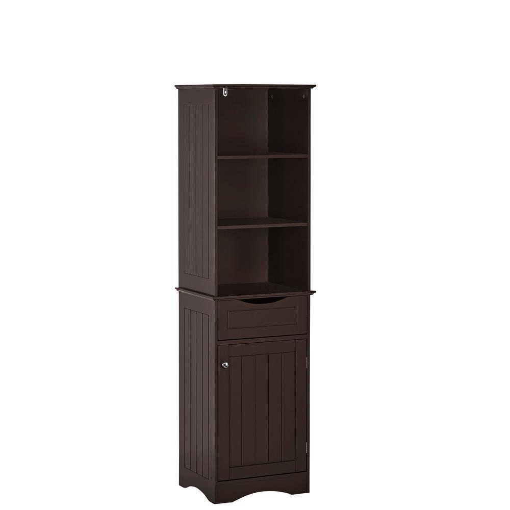 Ashland 16-1/2 in. W x 60 in. H Tall Cabinet in Espresso