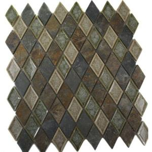 Ivy Hill Tile Roman Selection Emperial Slate Diamond 11 In